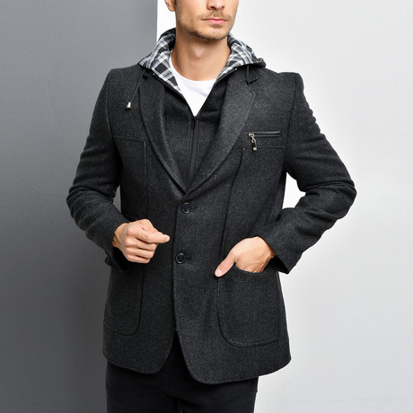 Vera Coat // Patterned Anthracite (Small)