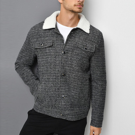 Capitol Coat // Patterned Black (Small)