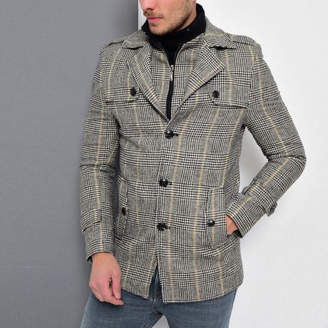 Sequoia Coat // Checked Gray (Small)