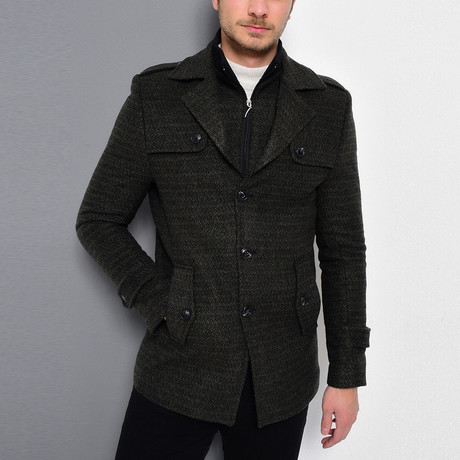 Sequoia Coat // Patterned Khaki Green (Medium)