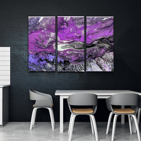Purple Feather (Small // 1 Panel)