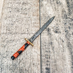 Long Miniature Sword // Neck Knife with Sheath // Dual Edge