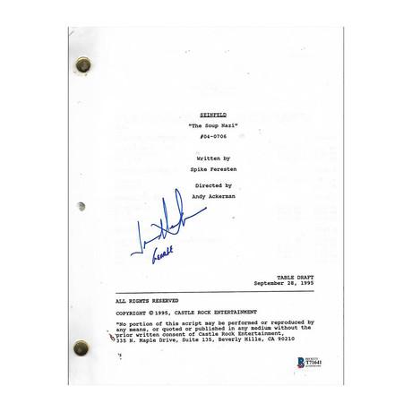 Jason Alexander // Autographed Seinfeld 'Soup Nazi' Script