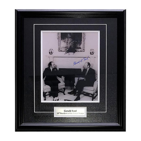 Gerald Ford // Autographed Photo Display