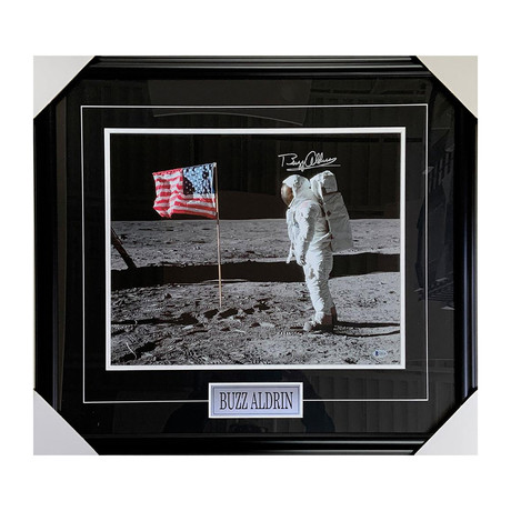 Buzz Aldrin // Autographed Framed Photo Display