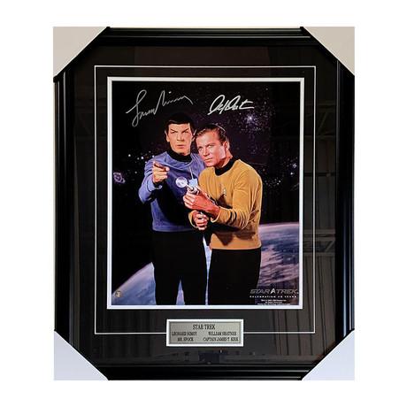 Leonard Nimoy + William Shatner // Star Trek // Autographed Display