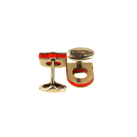 Cufflinks // Red + Gold