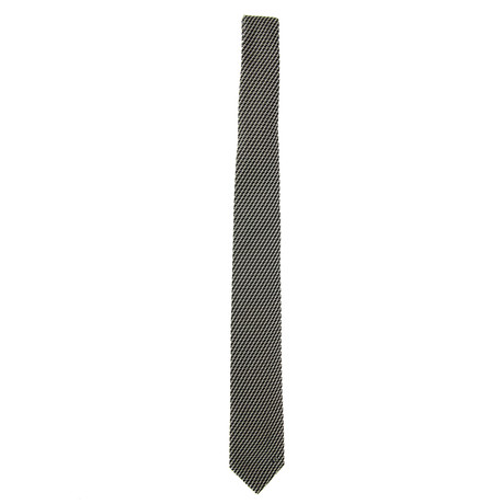 Silk Tie // Gray + White