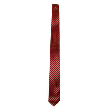 Silk Tie // Burgundy + White