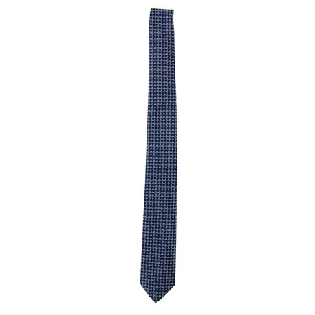 Silk Tie // Blue + White