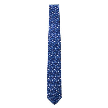 Silk Beaver Tie // Blue