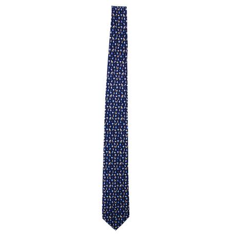 Silk Floral Tie // Blue