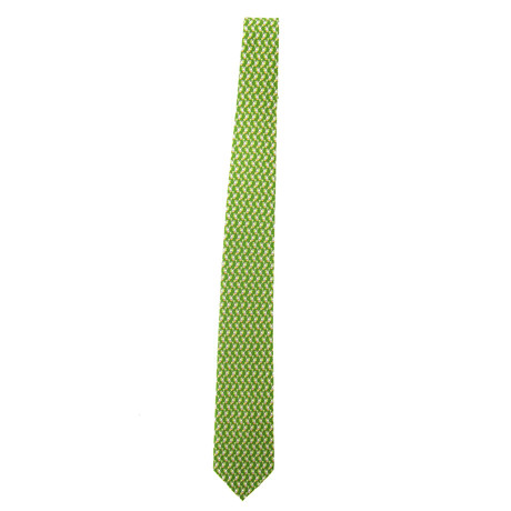 Silk Rabbit Tie // Green