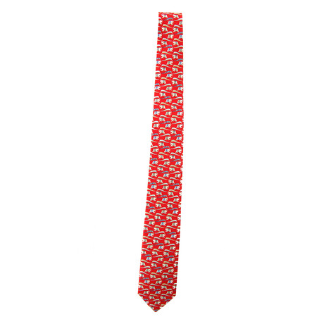 Silk Elephant Tie // Red