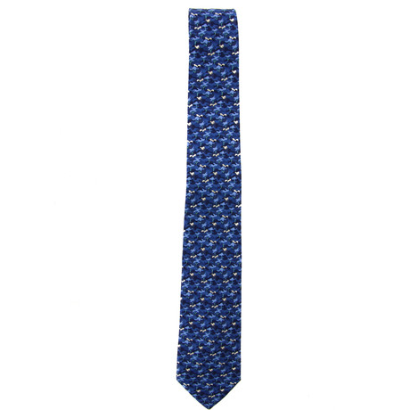 Silk Squirrel Tie II // Blue