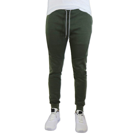 Moisture Wicking Track Pants // Heather Olive (S)