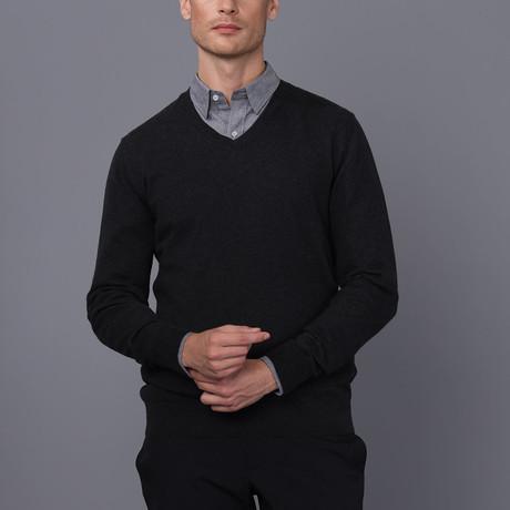 Lucas V-Neck Pullover // Black Melange (S)