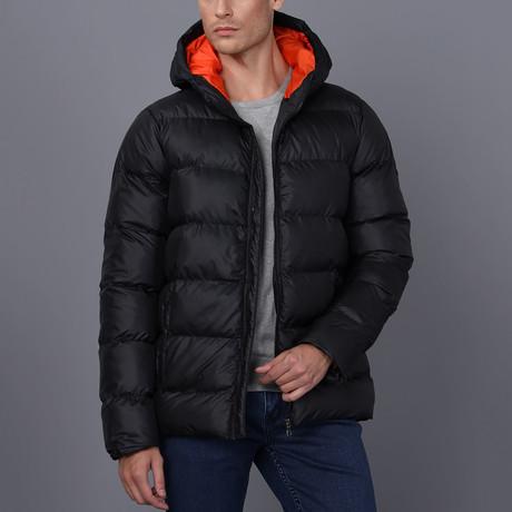 Liam Hooded Coat // Black (S)