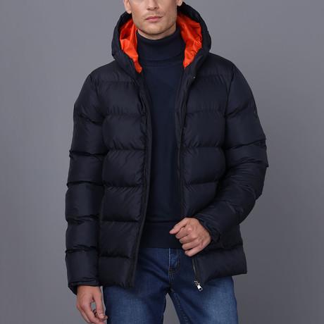 Noah Hooded Coat // Navy (S)