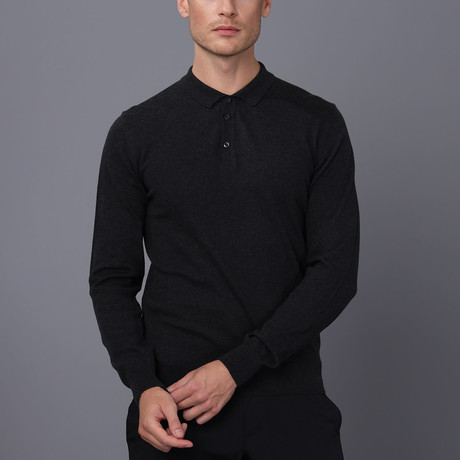 Owen Polo Pullover // Black Melange (S)