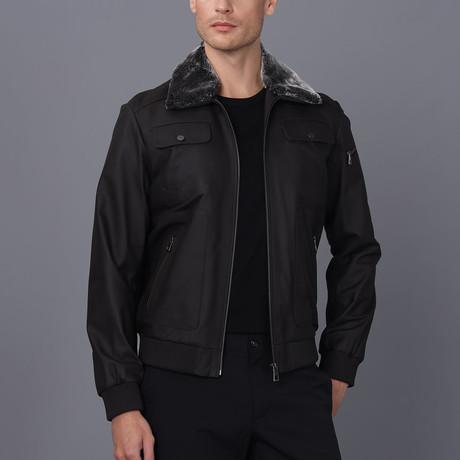 Cameron Leather Jacket // Brown Tafta (S)
