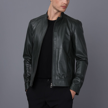Andrew Leather Jacket // Green (S)