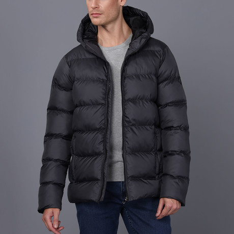 James Hooded Coat // Anthracite (S)