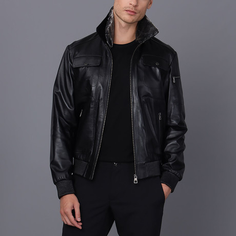 Theodore Leather Jacket // Black (S)