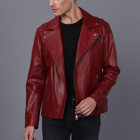 Ryan Leather Jacket // Bordeaux (S)
