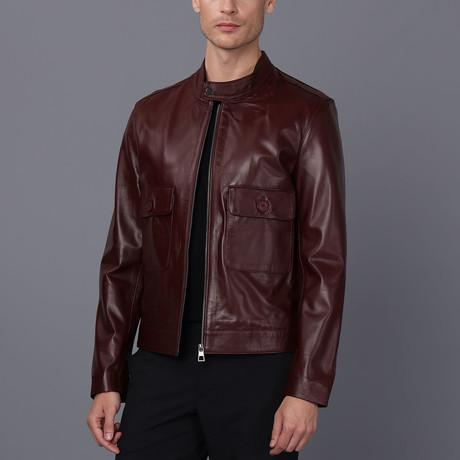 Grayson Leather Jacket // Damson (S)