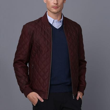 Dylan Leather Jacket // Bordeaux Tafta (S)