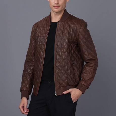 Anthony Leather Jacket // Chestnut (S)