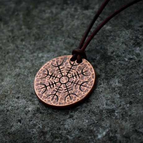 Helm of Awe Copper Necklace