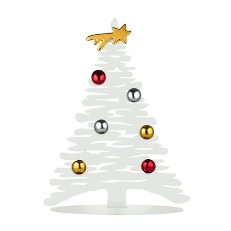 Bark For Christmas Ornament // White (Small)