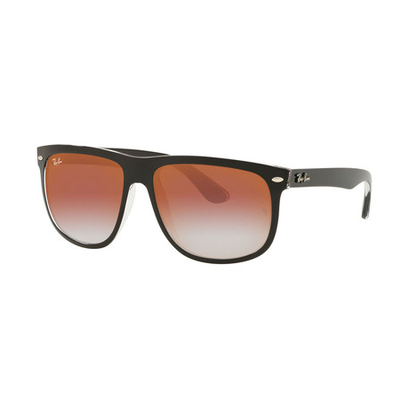 Men's Nylon Boyfriend Sunglasses // Black + Red Mirror