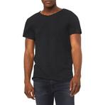 Ultra Soft Sueded Raw Hem T-Shirts // Charcoal (XL)