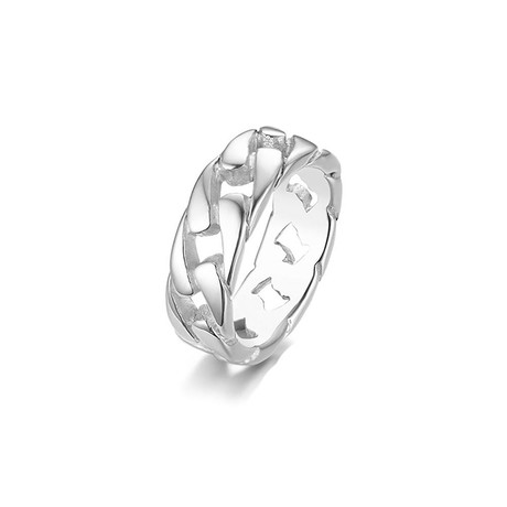 Curb Chain Band // White (Size 7)
