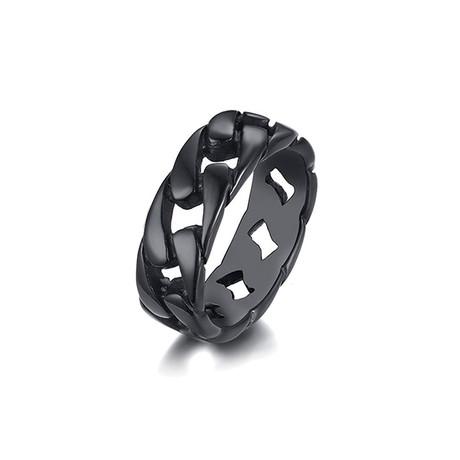 Curb Chain Band // Black (Size 7)