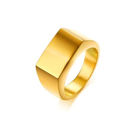 Rectangular Signet Ring// Yellow (Size 7)