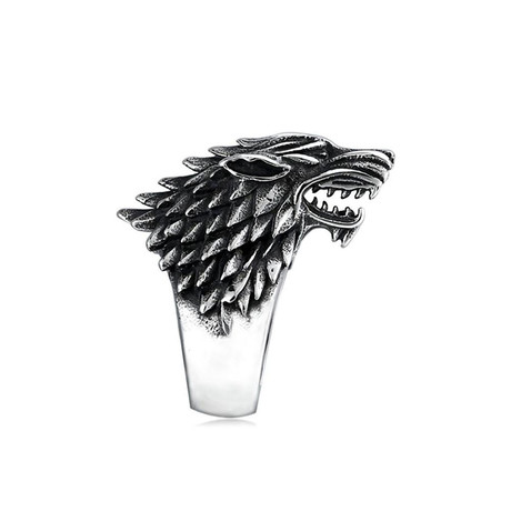 Game of Throne Wolf Ring // White (Size 7)