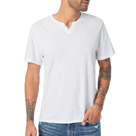 Wintz Short Sleeve Henley // White (S)