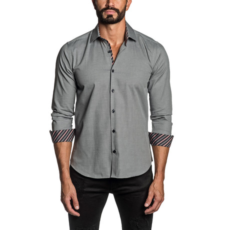 Long Sleeve Button Up Shirt // Gray Oxford (S)