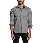 Long Sleeve Button Up Shirt // Gray Oxford (M)