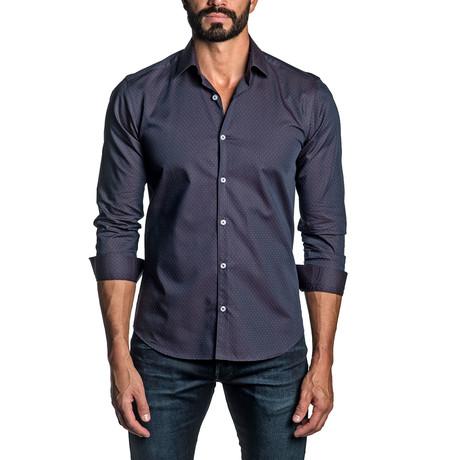Long Sleeve Button Up Shirt // Plum (S)
