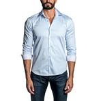 Pinstripe Long Sleeve Button Up Shirt // Blue (XL)