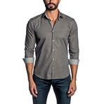 Long Sleeve Button Up Shirt // Brown (XL)