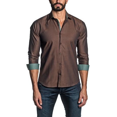 Jax Long Sleeve Button Up Shirt // Brown (S)