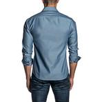 Long Sleeve Button Up Shirt // Blue + Steel (XL)