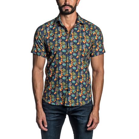 Cactus Short Sleeve Shirt // Blue (S)