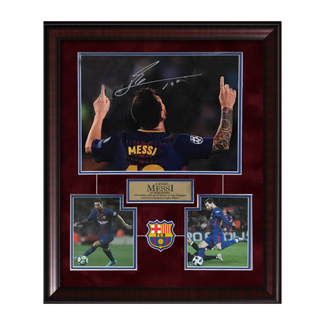 Lionel Messi // Framed // Signed